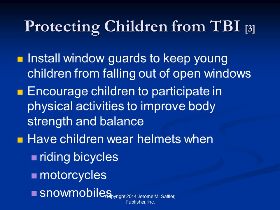 Protecting Children from TBI [3]